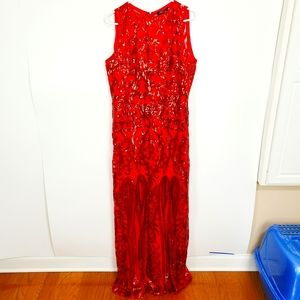 Ricarica | NWT Formal Sequin Dress Long Red 1X